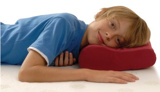 Kid on Travel Pillow