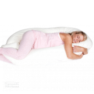 cuddleup body pillow women hugging pillow and sleeping