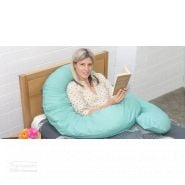 cuddleup body pillow women reading a book