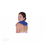 natural lupin heat pack neck and shoulder women looking over her shoulder with lupin around her neck