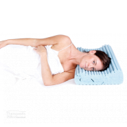 Complete Sleeprrr gel pillow lady lying down on the pillow