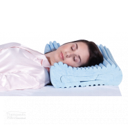 complete sleeprrr gel pillow women sleeping on her back