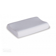 MemoGel Contour Pillow with cover over pillow