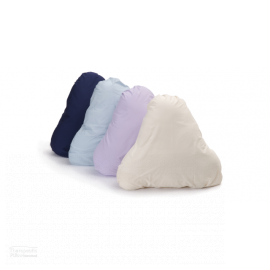 Pyramid Pillow Slip in 4 different colours displayed on the pillow