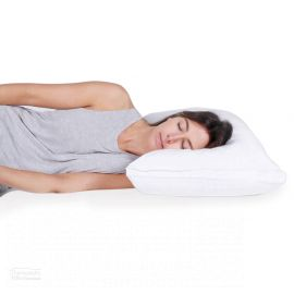 Theramed Wool Blend Pillow women sleeping on her side