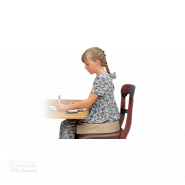 BottomsUp Seat Cushion girl sitting in chair drawing