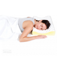 Family pillow women sleeoing on her stomach
