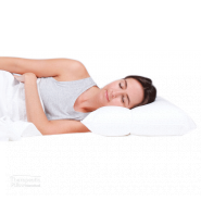 Sleepezy 2 Zone Pillow Adjustable Pillow 3 Fill Options - Poly, Latex Flake or Down