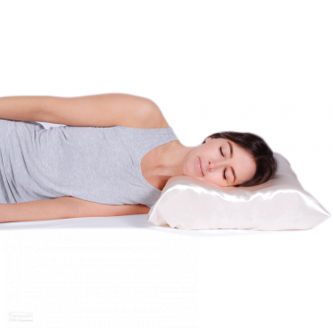 Satin Beauty Pillow - Contoured Memory Foam - Helps minimise wrinkles