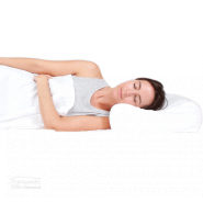 Tranquillow Memory Foam Pillow lady sleeping on her side